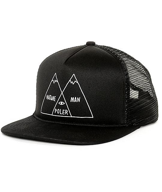 Poler Venn Black Trucker Hat  7c1859b831d