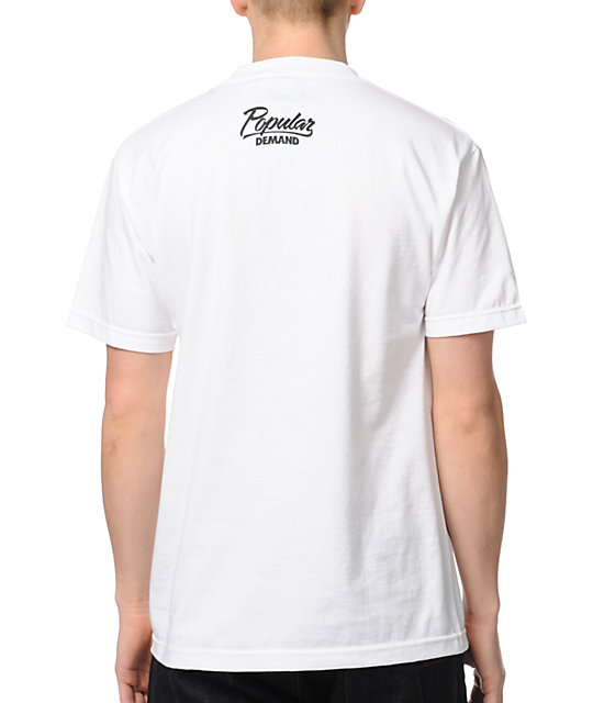 Popular Demand Authentic Flag White T-Shirt