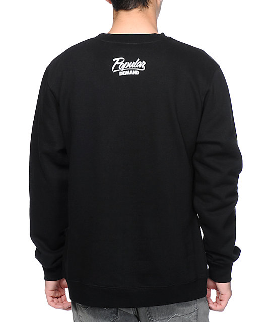 Popular Demand Camo Chief Black Crew Neck Sweatshirt