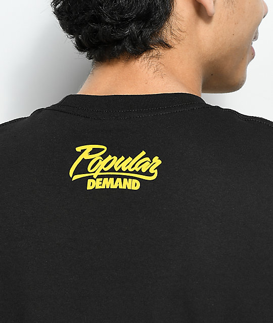Popular Demand Caution Black T-Shirt