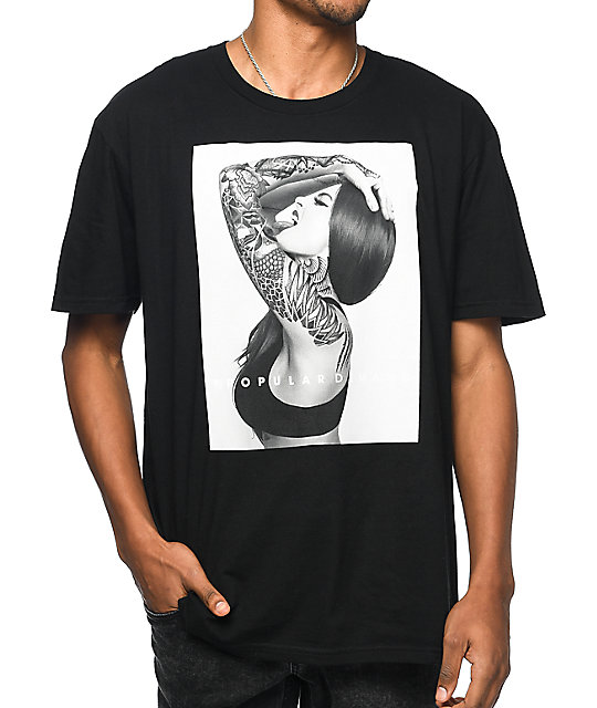 Popular demand inked black t shirt zumiez for On demand t shirt printing