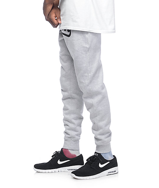 Popular Demand Popular Script Grey Jogger Pants