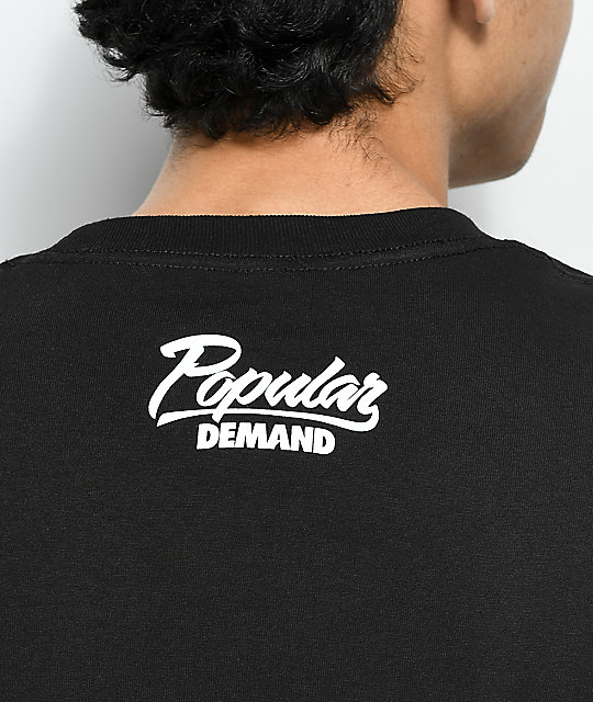 Popular Demand Snap camiseta negra