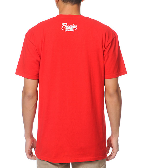 Popular Demand Squared Flag Red T-Shirt