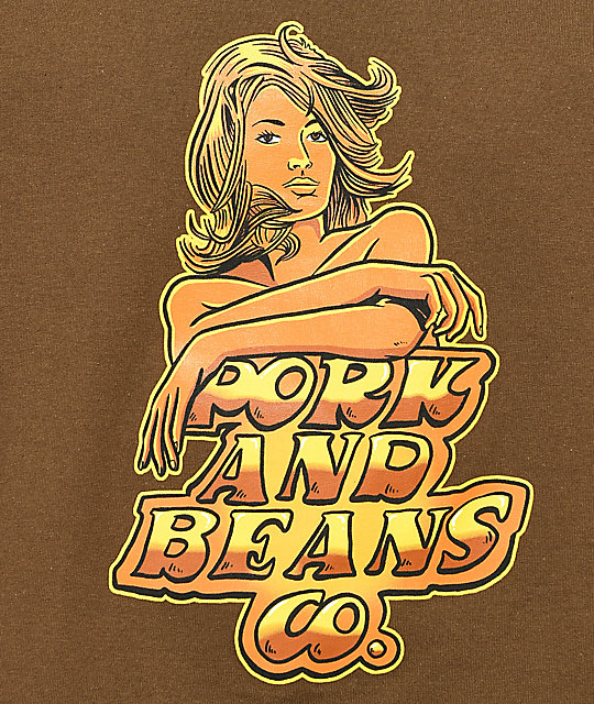 Pork & Beans River Bunny camiseta marrón