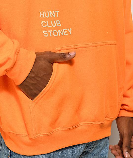 243086708e55 Post Malone Stoney Big Buck Hunt Club Orange Hoodie | Zumiez