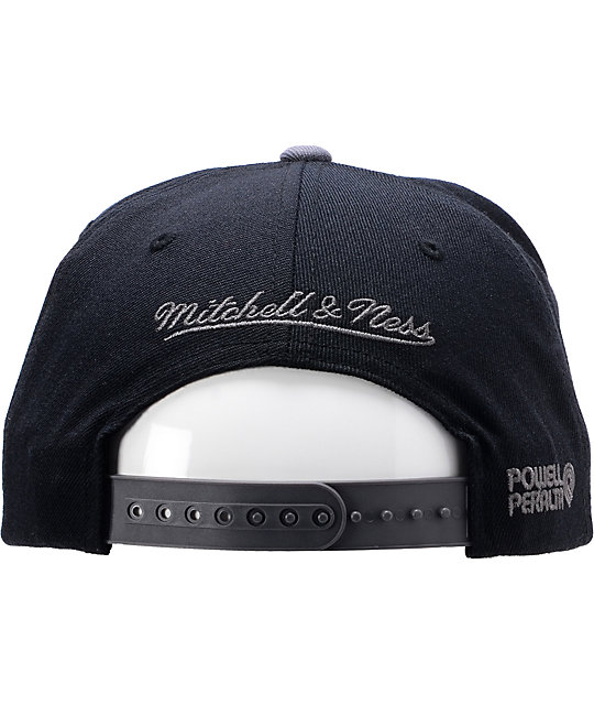 Powell x Mitchell And Ness Ripper Black Snapback Hat