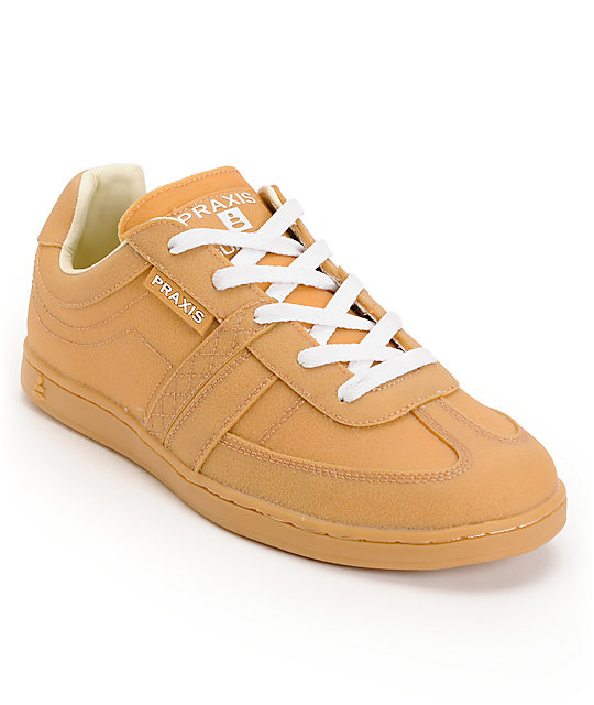 Praxis Trojan Natural Gorilla Gum Skate Shoes