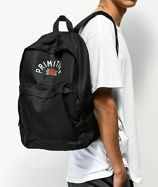 Primitive Arch Rose Homeroom Black Backpack