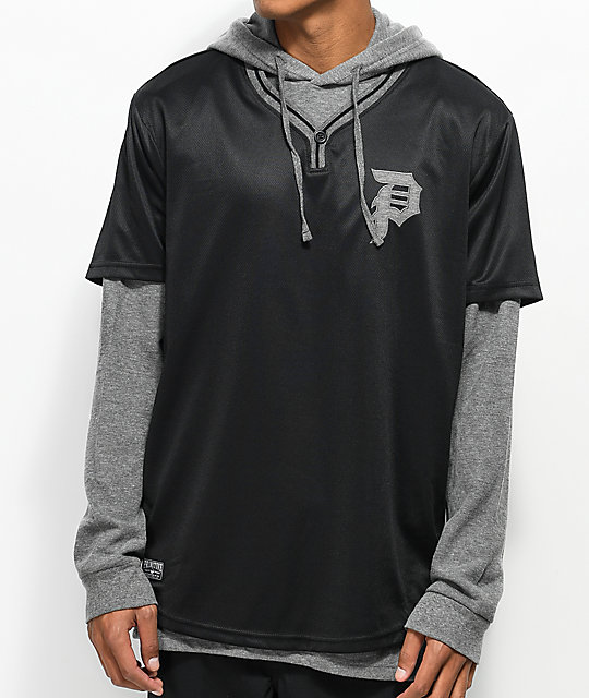 Primitive Baseball 2fer Thermal Black & Grey Long Sleeve T-Shirt