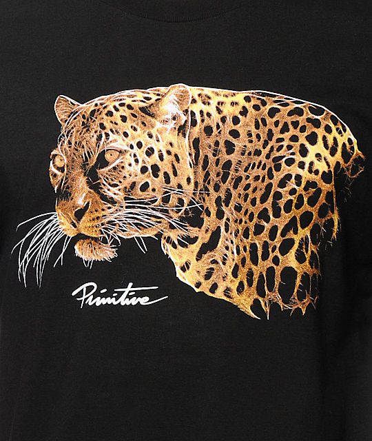 Primitive Big Cat Black T-Shirt