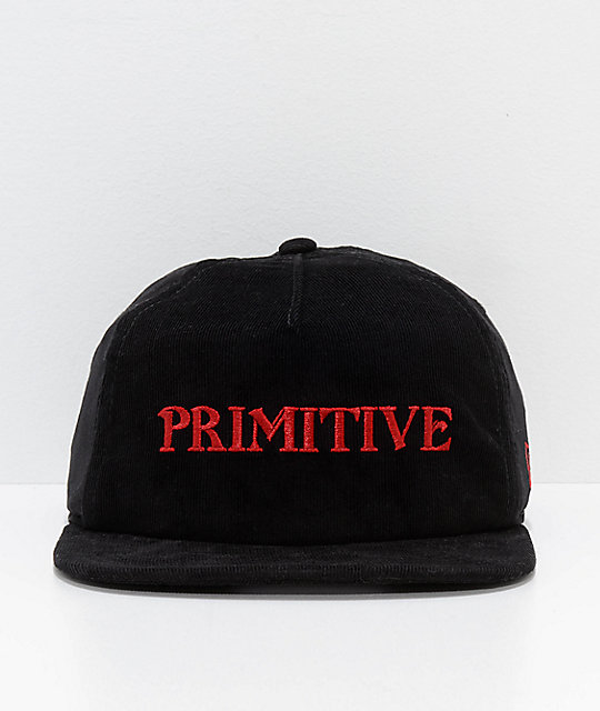 Primitive Black Magic gorra snapback en negro de pana