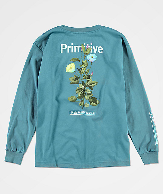 Primitive Boys Tulip Slate Blue Long Sleeve T-Shirt