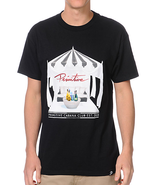 Primitive Cabana Club Black T-Shirt