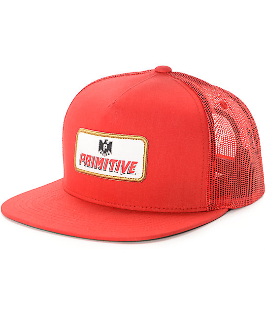 Primitive Cerveza Red Trucker Hat  0bdfb22b21f