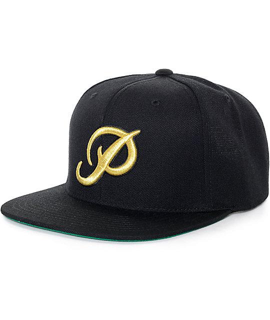 1f53f62f2 Primitive Classic P Black & Gold Starter Snapback Hat