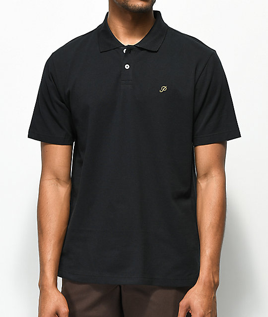 Primitive Classic P Black Polo Shirt