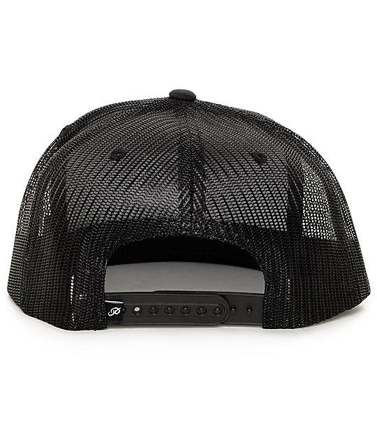 ... Primitive Classic P Black Trucker Hat ea13b1cadd9