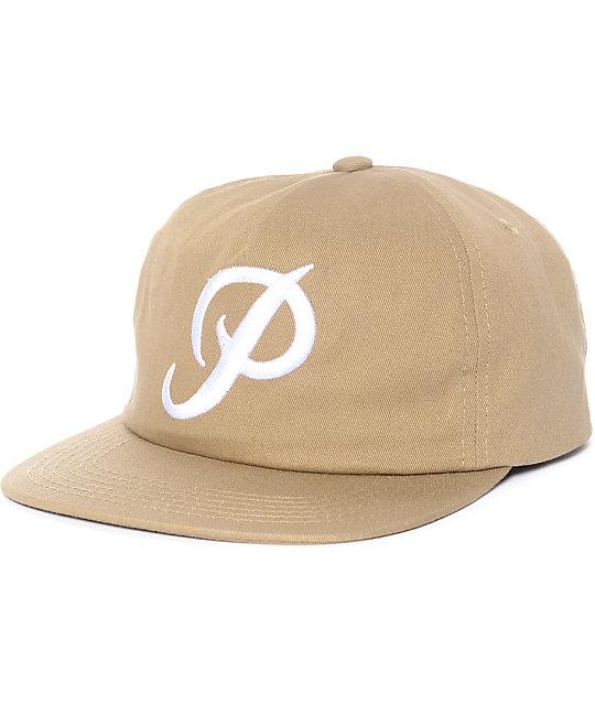 Primitive Classic P Khaki Snapback Hat  cb73d4f4ff1