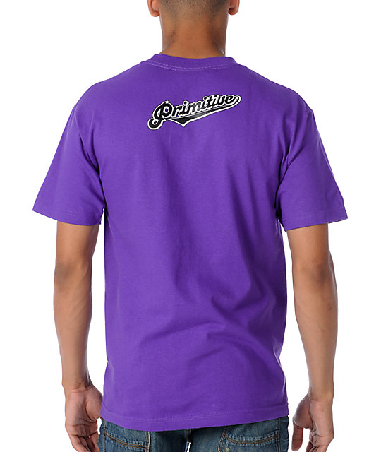 Primitive Clothing Skunked Purple T-Shirt