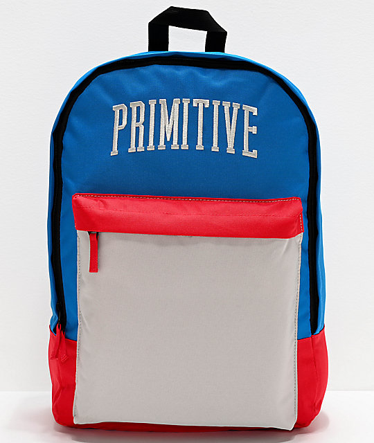Primitive Collegiate Arch Homeroom Black & Red Backpack