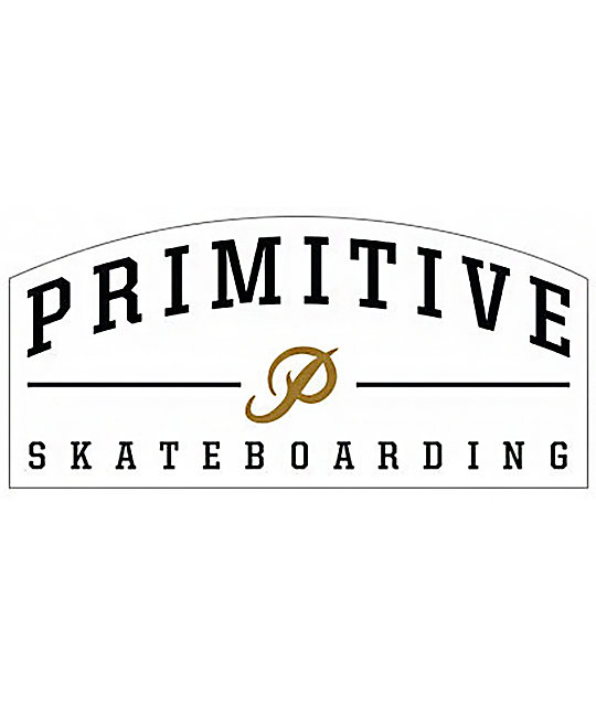 Primitive core logo sticker