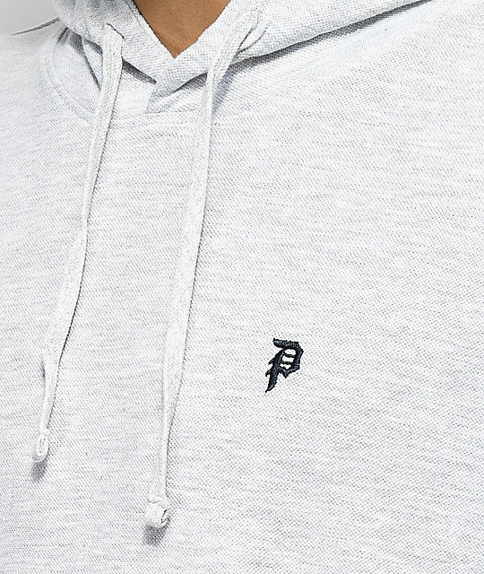 Primitive Dirty P Heathergrey Pique Hoodie