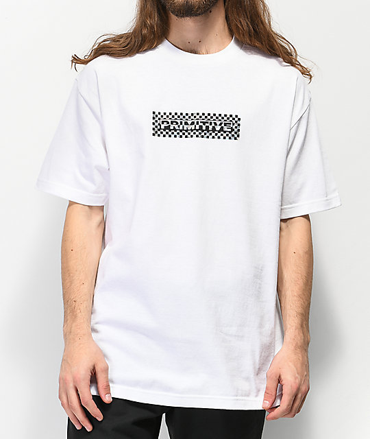 Primitive Finish Line Holographic camiseta blanca