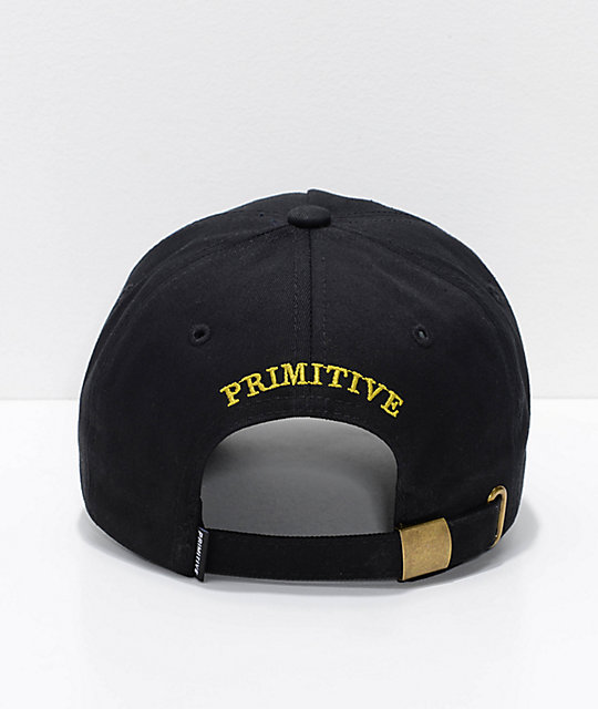 Primitive Heartbreakers Black & Gold Strapback Hat
