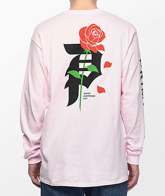 Primitive Heartbreakers Pink Long Sleeve T-Shirt