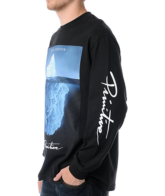 Primitive Iceberg Black Long Sleeve T-Shirt