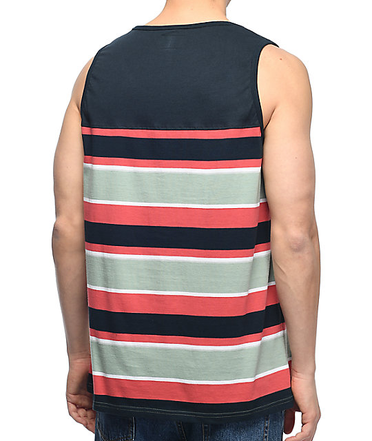 Primitive Jacquard Navy Tank Top