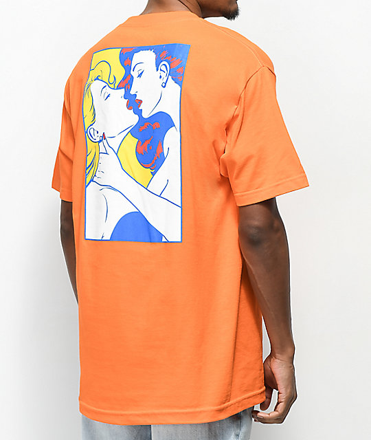 Primitive Kiss Orange Pocket T-Shirt