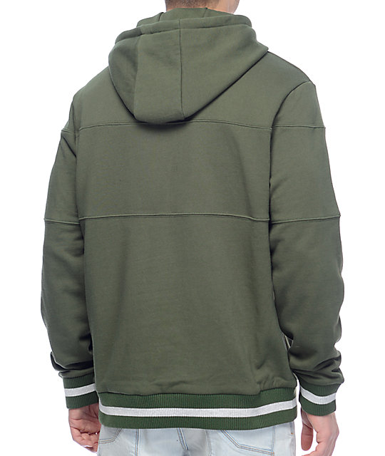 Primitive League Piped Olive Pullover Hoodie