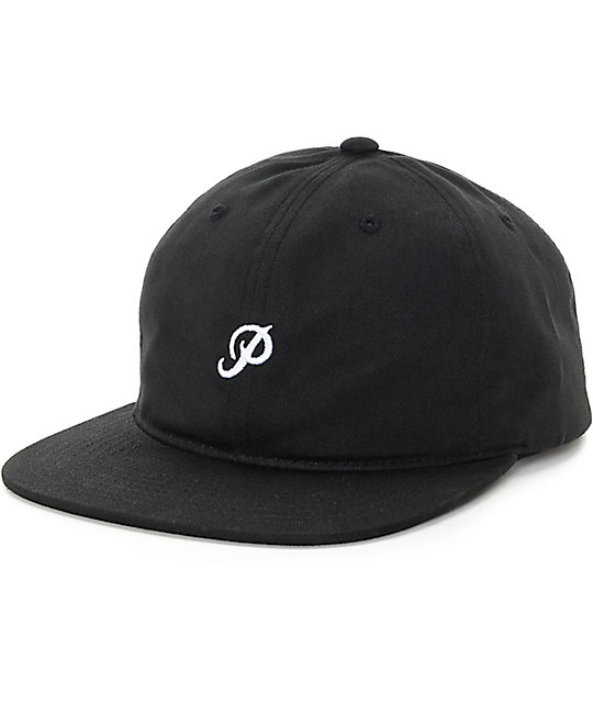 Primitive Mini Classic P Black Strapback Hat