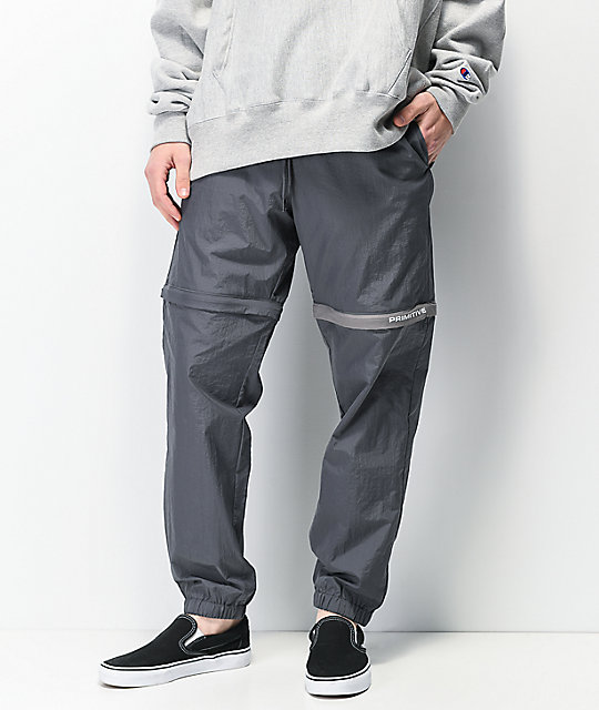 Primitive Ninety Eight Grey Zip Off Track Pants