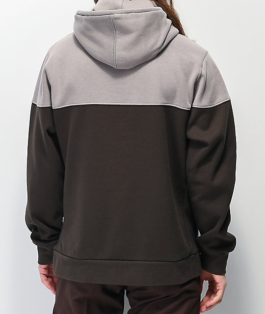 Primitive Pacer Colorblock Grey Hoodie
