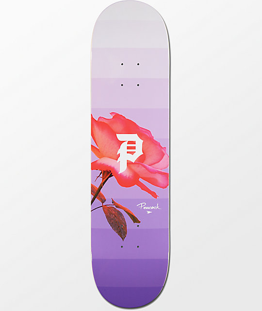 "Primitive Peacock Rose Out 8.0"" Skateboard Deck"