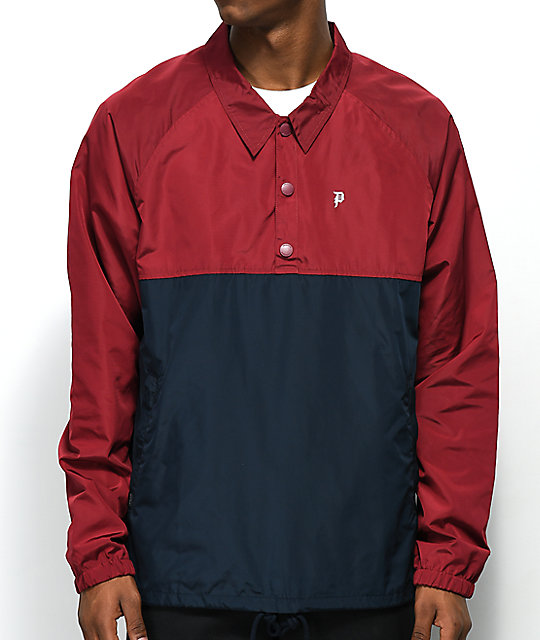 Primitive Red & Blue Anorak Coaches Jacket