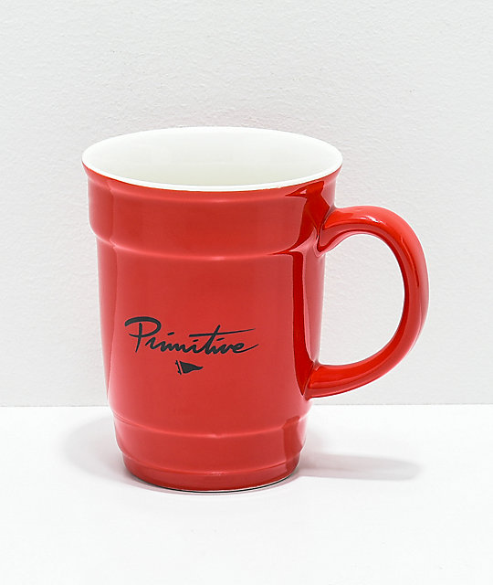Primitive Red Cup Ceramic Coffee Mug