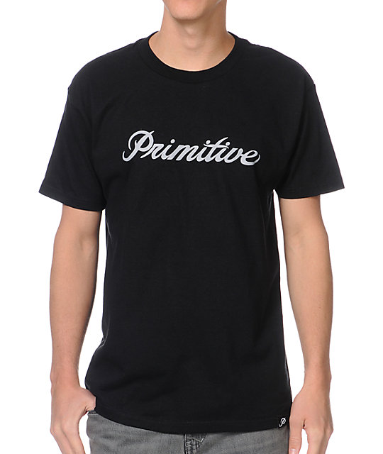 Primitive Signature Script Black T-Shirt