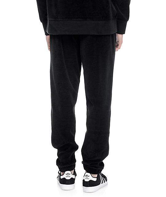 Primitive Velour Black Sweatpants