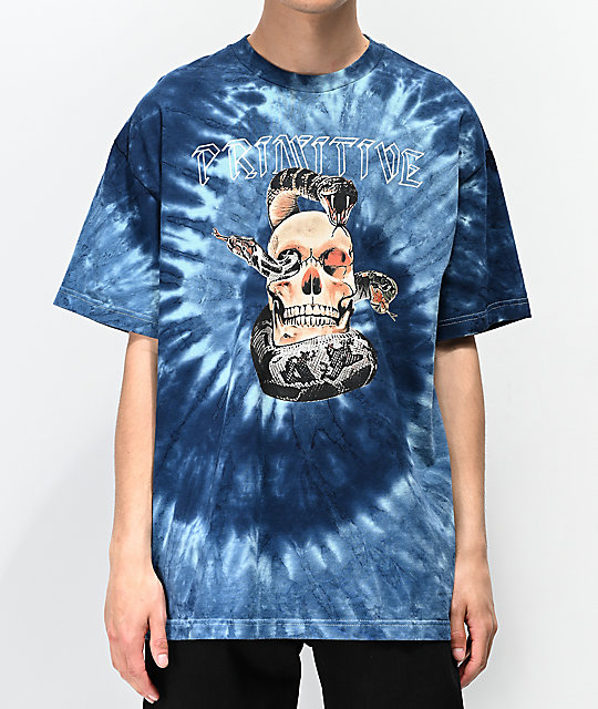 Primitive World Tour Blue Tie Dye T-Shirt