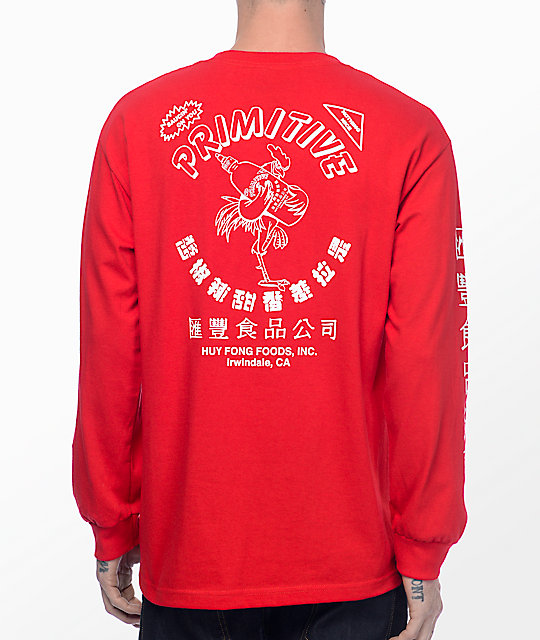 Primitive X Huy Fong Red Long Sleeve T-Shirt