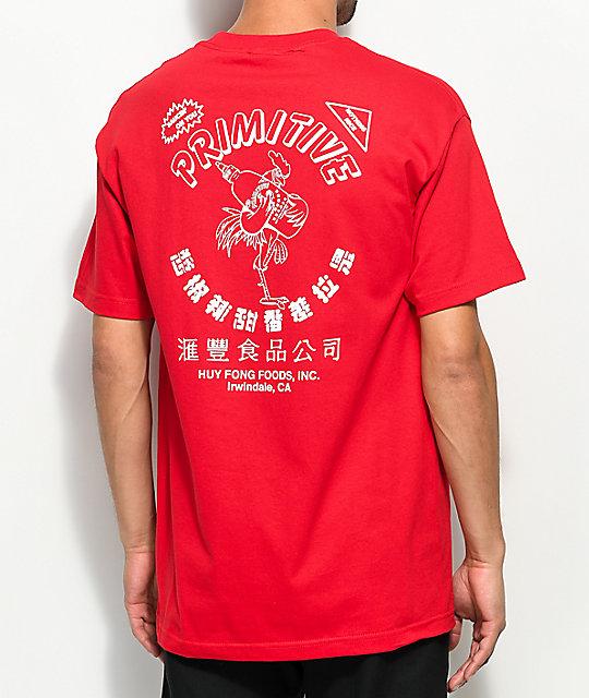 Primitive X Huy Fong Red T-Shirt | Zumiez