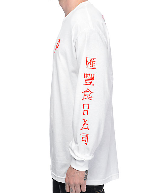 Primitive X Huy Fong White Long Sleeve T-Shirt