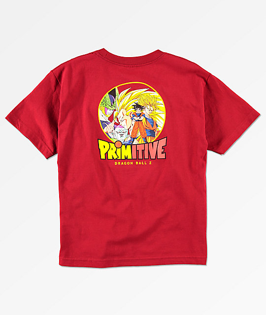 Primitive x Dragon Ball Z Boys Circle Cardinal Red T-Shirt