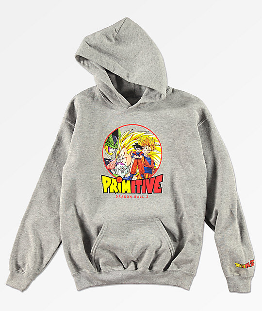 Primitive x Dragon Ball Z Boys Circle Grey Hoodie