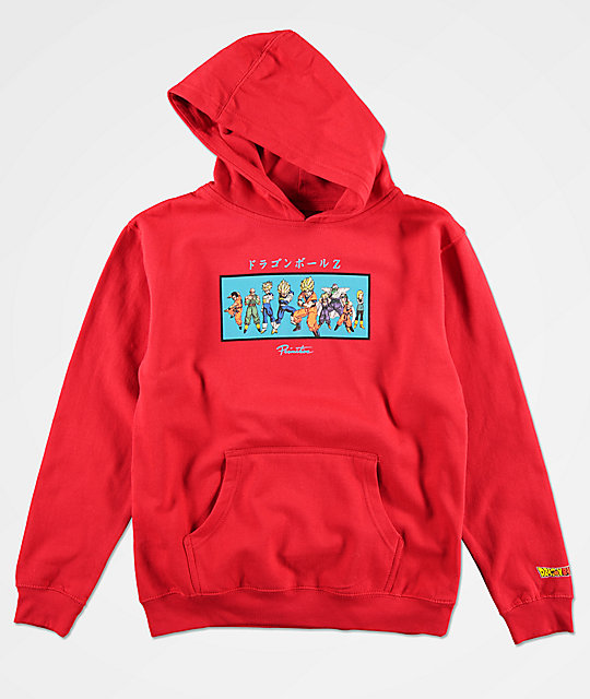 Primitive x Dragon Ball Z Boys Heroes Red Hoodie