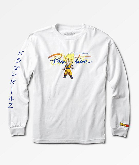 ef420bf2 Primitive x Dragon Ball Z Boys Nuevo Goku Saiyan White Long Sleeve T-Shirt    Zumiez.ca